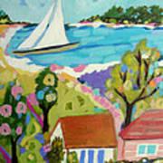 Beach House Island Art Print