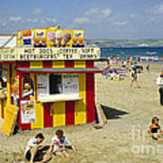 Beach Hut Art Print by David Davies