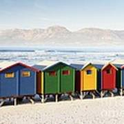 Beach Huts At Muizenberg Art Print