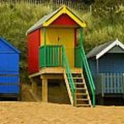 Beach Huts At Wells Next To Sea 1 Art Print