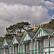 Beach Huts Langland Bay Swansea 3 Art Print