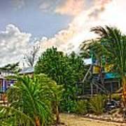 Beach In Front Of Colinda's Cabanas Art Print