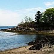 Beach In Maine Art Print