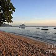 Beach In Mauritius  Art Print