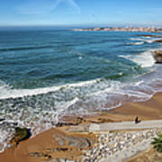 Beach In Resort Town Of Estoril Art Print