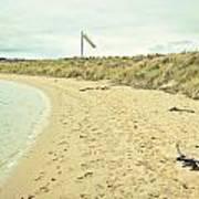 Beach In Scotland Art Print