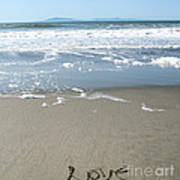 Beach Love Print by Linda Woods