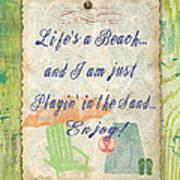 Beach Notes-e Art Print