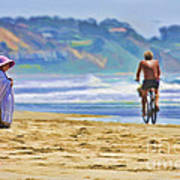 Beach Of Life Large Crop Art Print
