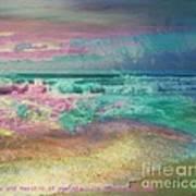 Beach  Overcast Art Print