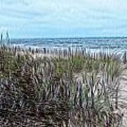 Beach Painting 2 Art Print