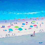 Beach Painting - Happy Days Art Print