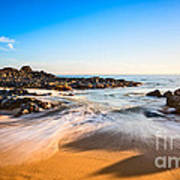 Beach Paradise - Beautiful And Secluded Secret Beach In Maui. Art Print