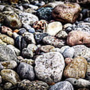 Pebbles On Beach Art Print