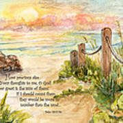 Beach Post Sunrise Psalm 139 Art Print