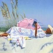 Beach Recliner Art Print