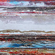 Beach Rhythms And Textures IIi Art Print by Mike   Bell