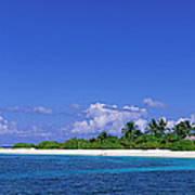 Beach Scene Maldives Art Print
