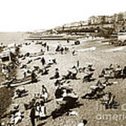 Beach Sean France  Circa 1900 Art Print