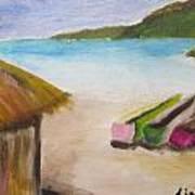 Beach Shack Art Print