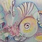 Beach Shack And Sea Shells 1.3 Art Print