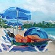Beach Siesta Art Print