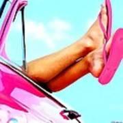 Beach Slippers - Summer Time Serie Art Print