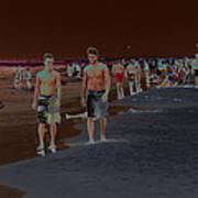 Beach Solar Series Vii Usa Art Print