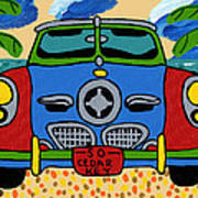 Beach Studebaker Art Print