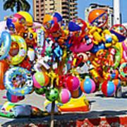 Beach Toys At Manta Beach Ecuador Art Print