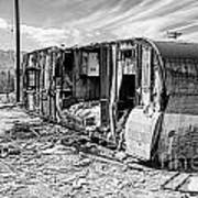 Beach Trailer Bw Art Print