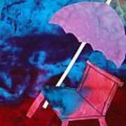 Beach Umbrella Art Print