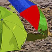 Beach Umbrellas Art Print