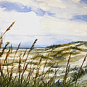 Beach Watercolor 3-19-12 Julianne Felton Art Print