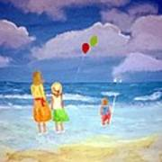 Beachbaloons Art Print
