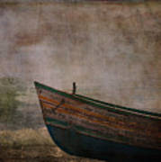 Beached Dinghy Art Print by Sarah Vernon