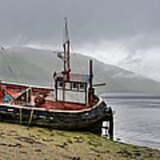 Beached Fishing Boat Art Print