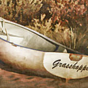 Beached Rowboat Art Print by Carol Leigh