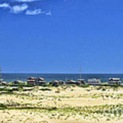 Beachouses As Seen From Jockey's Ridge State Park Art Print