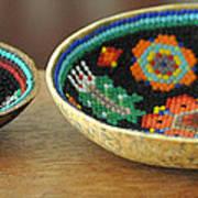Beaded Indian Baskets Art Print
