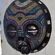 Handbeaded Mask Mexico Art Print