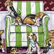 Beagle Mania Art Print