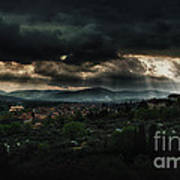Beams Of Light Over Florence Art Print