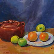 Bean Pot And Fruit Art Print