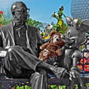 Bear And His Mentors Walt Disney World 03 Art Print