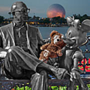 Bear And His Mentors Walt Disney World 05 Art Print