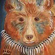 Bear Medicine Art Print by Ellen Levinson