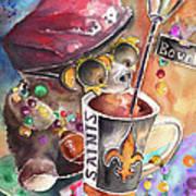 Bear On Bourbon Art Print