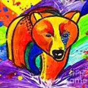 Bear Pop Art Art Print
