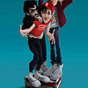 Beastie Boys_the New Style Art Print by Nelson Dedos Garcia